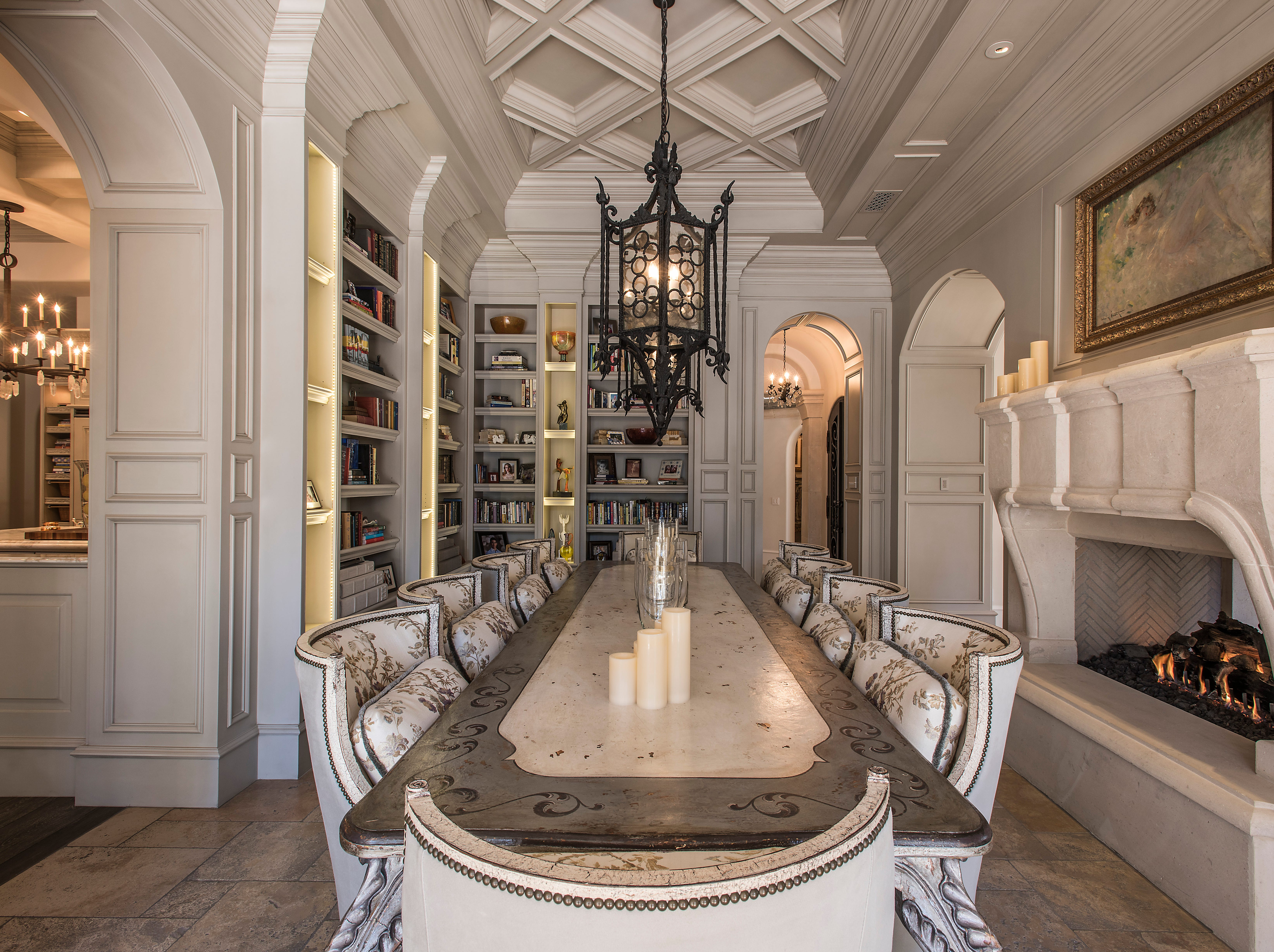 """The 10,000-square-foot home attorney Glen Lerner has listed for sale for $6.99 million comes with a billiards room, workout studio, wine cellar and home theater.The """"resort-style"""" mansion, built in 2009, also has five bedrooms, seven bathrooms, a guest casita and a four-car garage. Look for """"multiple fire features"""" outside near the pool and spa."""