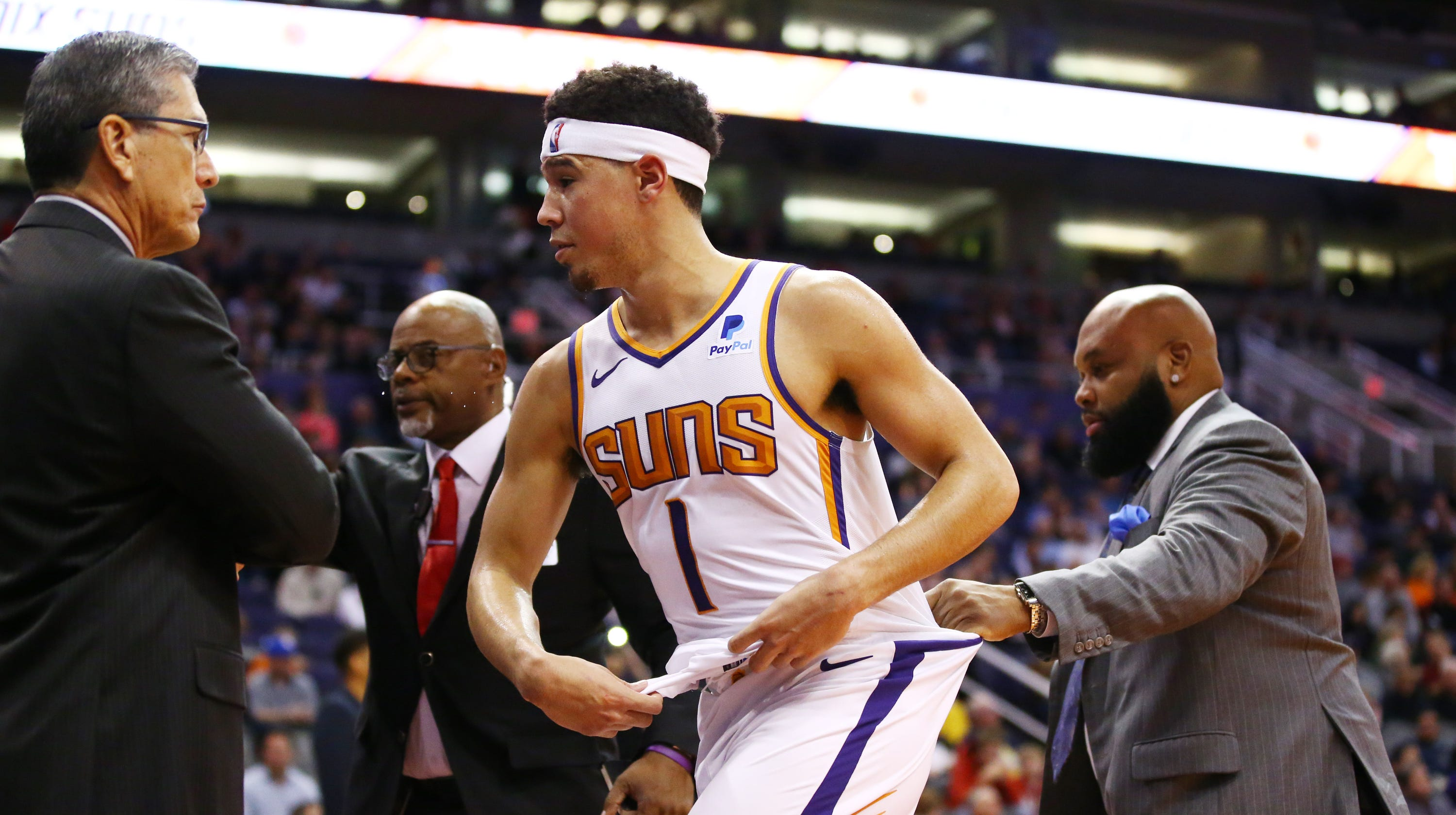release date: 4d89b 662b6 Devin Booker loses control, tries to confront Gorgui Dieng ...