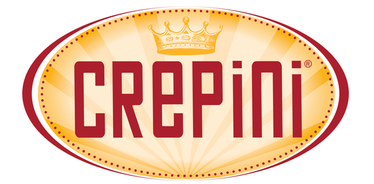 The logo for Crepini, a food manufacturer which makes crepes and egg white wraps.
