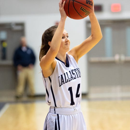 Brielle Berry scans the floor during the YAIAA girls' basketball game between Dallastown and South Western Jan. 22. Dallastown will try to win its first district title Friday.