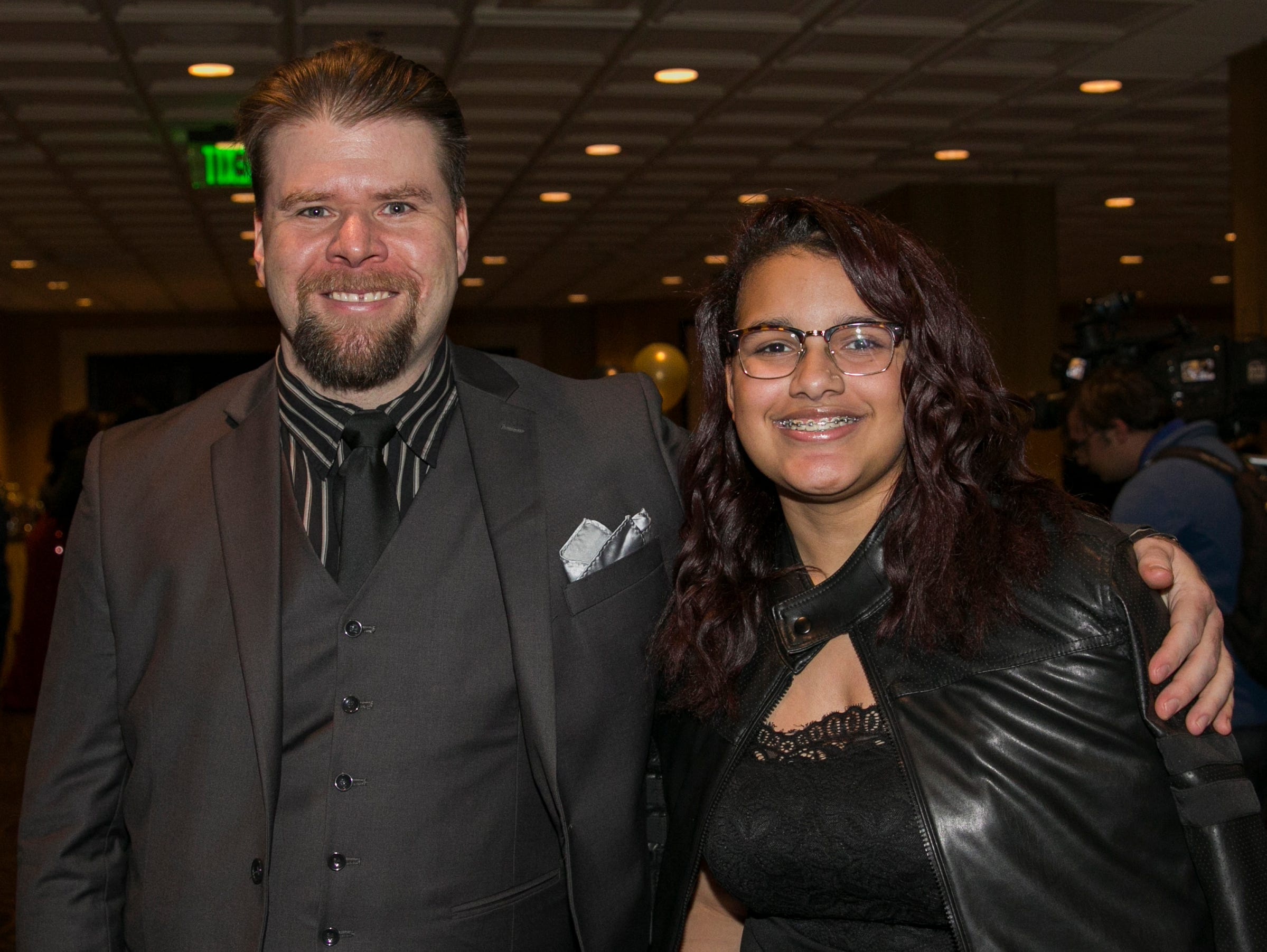 Benjamin Harvey and Nevaeh Borba during the 31st Annual Martin Luther King, Jr. Birthday Celebration Dinner at the Atlantis Casino Resort Spa on Monday, January 21, 2109 in Reno, Nevada.