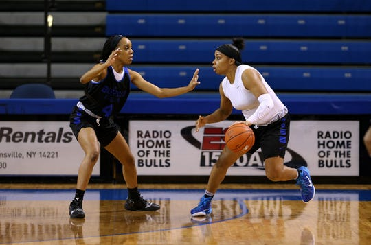 Cierra Dillard leads by example with her UB teammates.