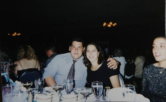 Jason and Nicole DeLeo of Penfield.  Jason DeLeo was about 35 years old in this photo.  It was a few years before he lost a lot of weight.