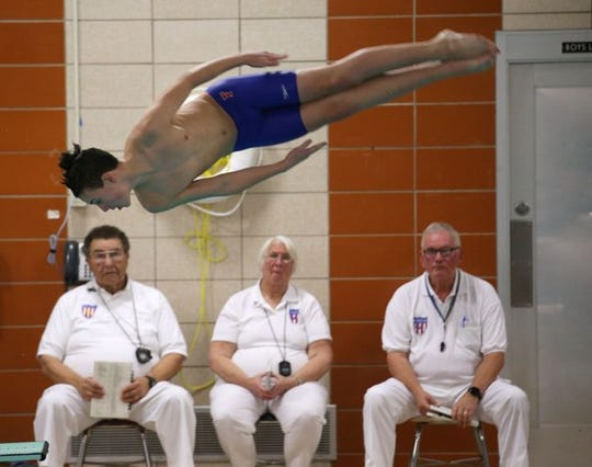 Fairport diver Alex Palmer at Pittsford
