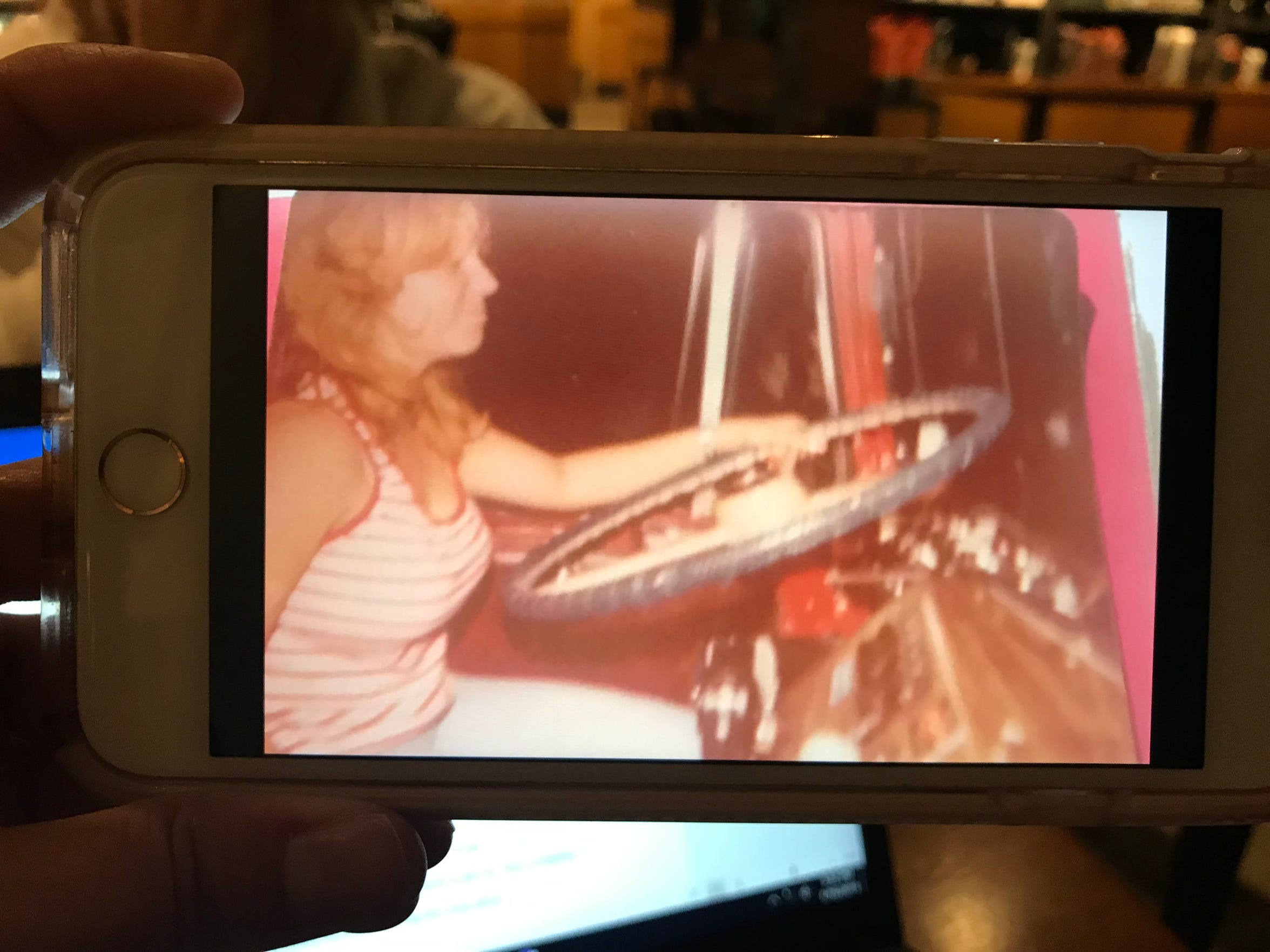 Mary Ann Sharp learning to drive a truck as a teenager in the 1970s.