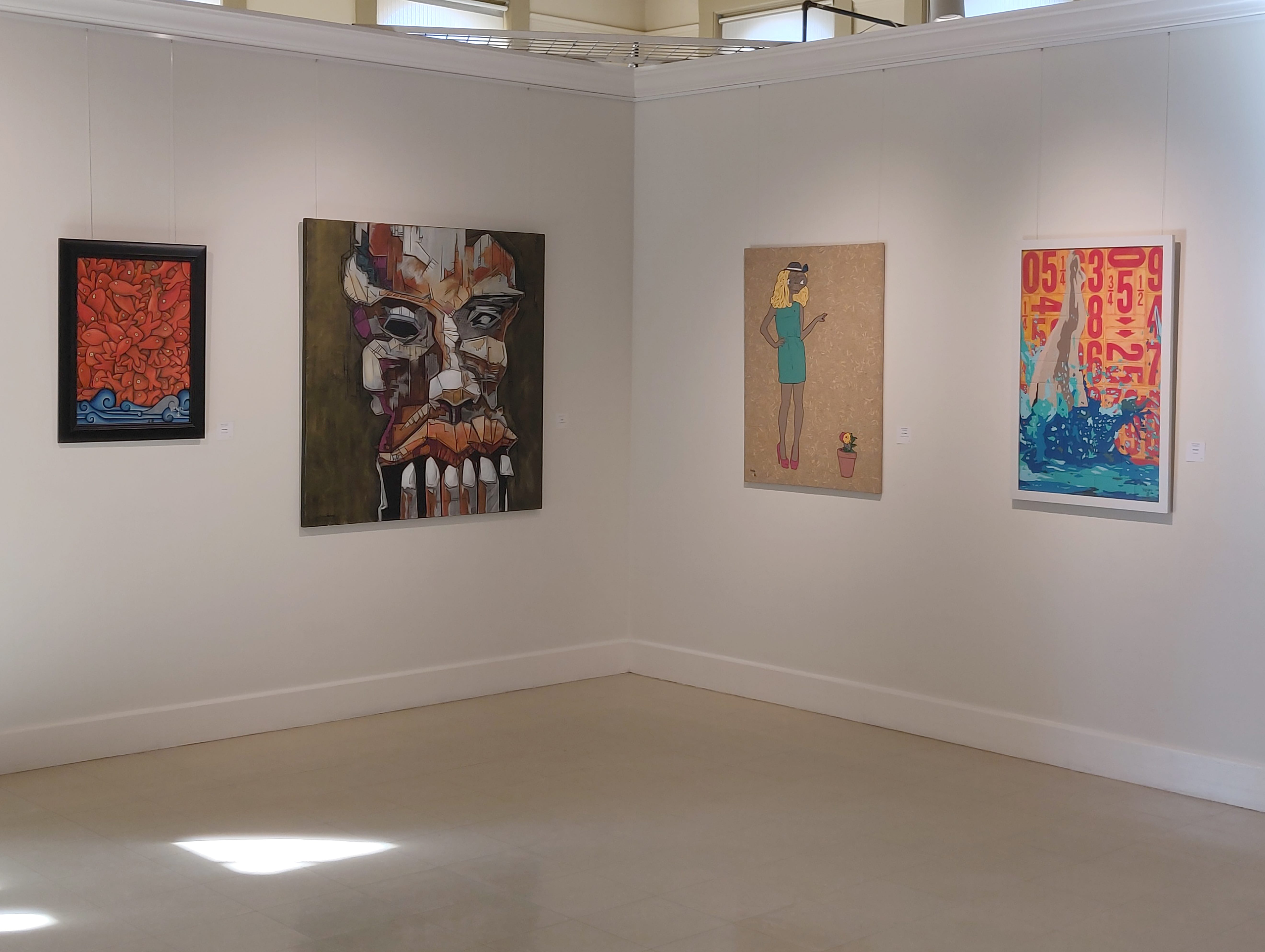 """Shasta County Arts Council's gallery exhibit during the 2019 Cultura Cruise is called """"Figuring Juncture,"""" with work by Happy Valley-born artist Justin Patton and Spanish painter Karlo Henry Velazquez. Both artists live and work in Shasta County."""