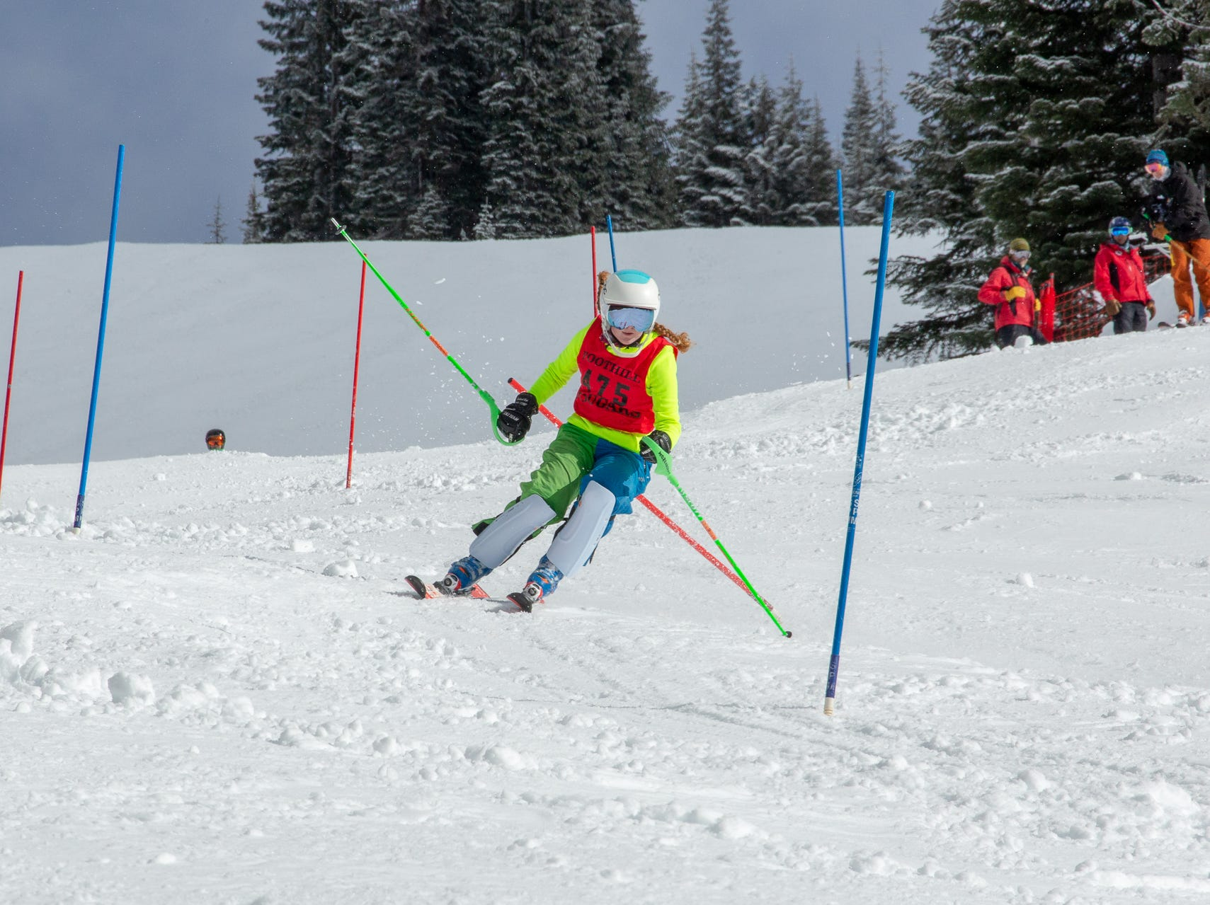 Sydnie Williams of Foothill competes in the second high school ski meet of 2019 on Monday, Jan. 21 at Mt. Shasta Ski Park.