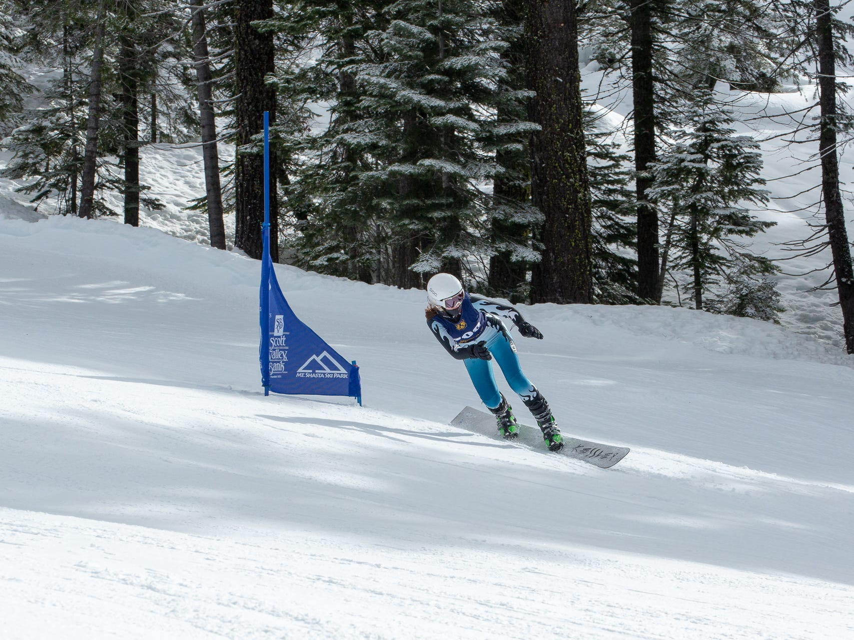 Tate Harkness of Mt. Shasta competes in the second high school ski meet of 2019 on Monday, Jan. 21 at Mt. Shasta Ski Park.