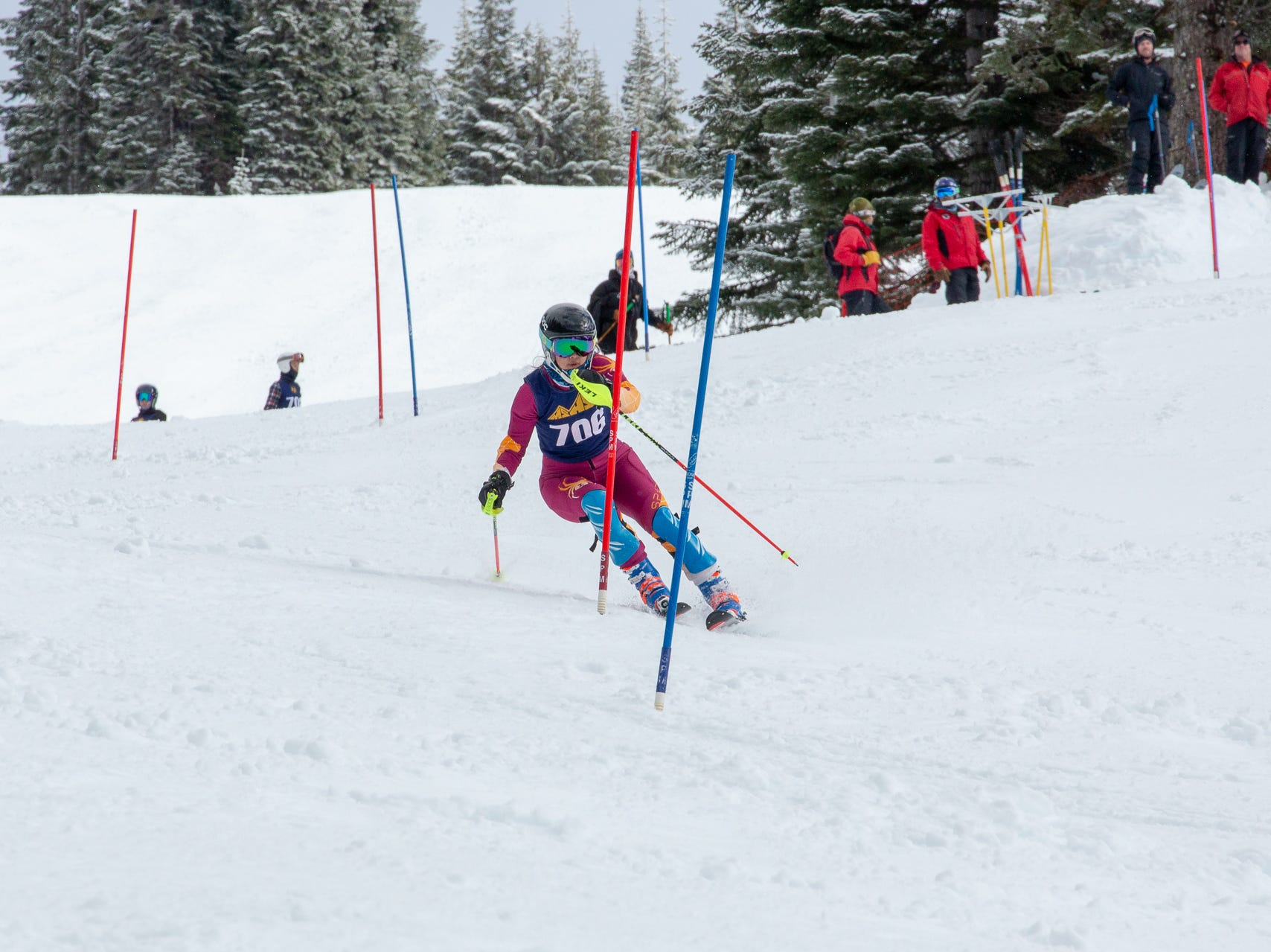 Zoe Malee of Mt. Shasta competes in the second high school ski meet of 2019 on Monday, Jan. 21 at Mt. Shasta Ski Park.