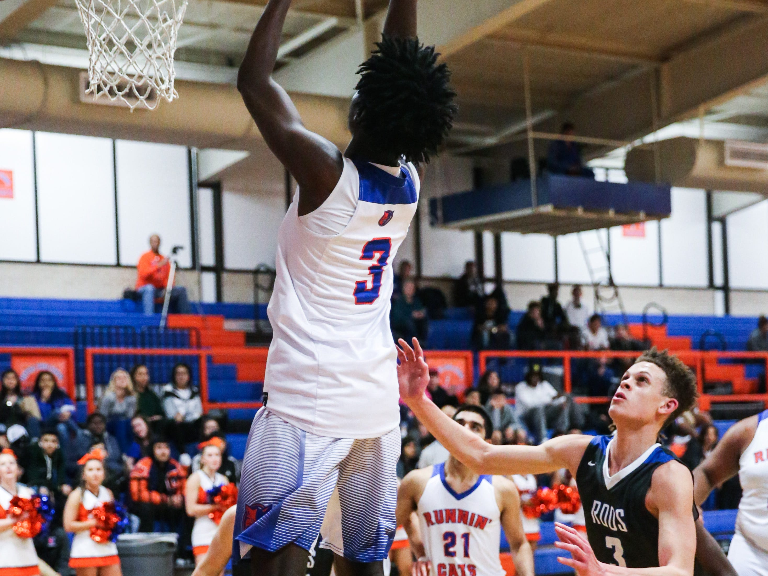 Central's Jashon Hall jumps to shoot against Weatherford Tuesday, Jan. 22, 2019, at Central High School.