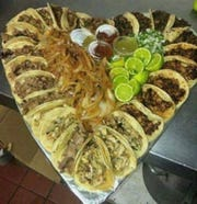 Deal that includes 25 tacos being offered for Valentine's Day at The Mexican Lady, 2402 Martin Luther King Drive.