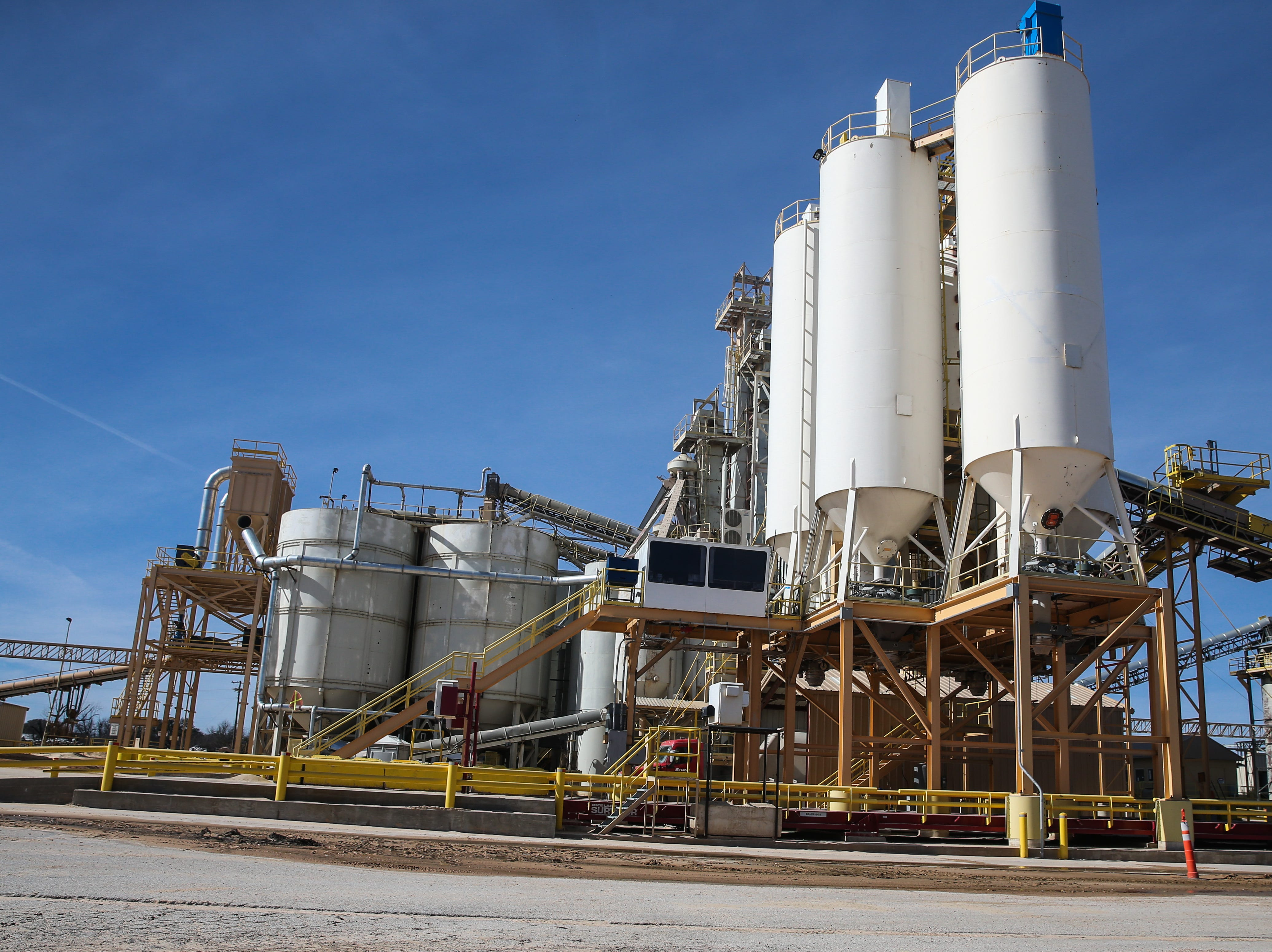 Pioneer Sands plant is still operating Thursday, Jan. 17, 2019, by 11th Street in Brady. The sand plants are closing, leaving the city without a major source of employment and revenues.