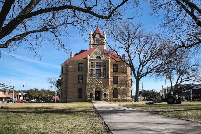 The McCulloch County Courthouse sits in the center of Brady.