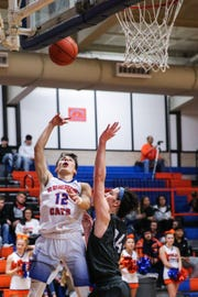 Central's Tristan Lopez goes up for a layup against Weatherford Tuesday, Jan. 22, 2019, at Central High School.