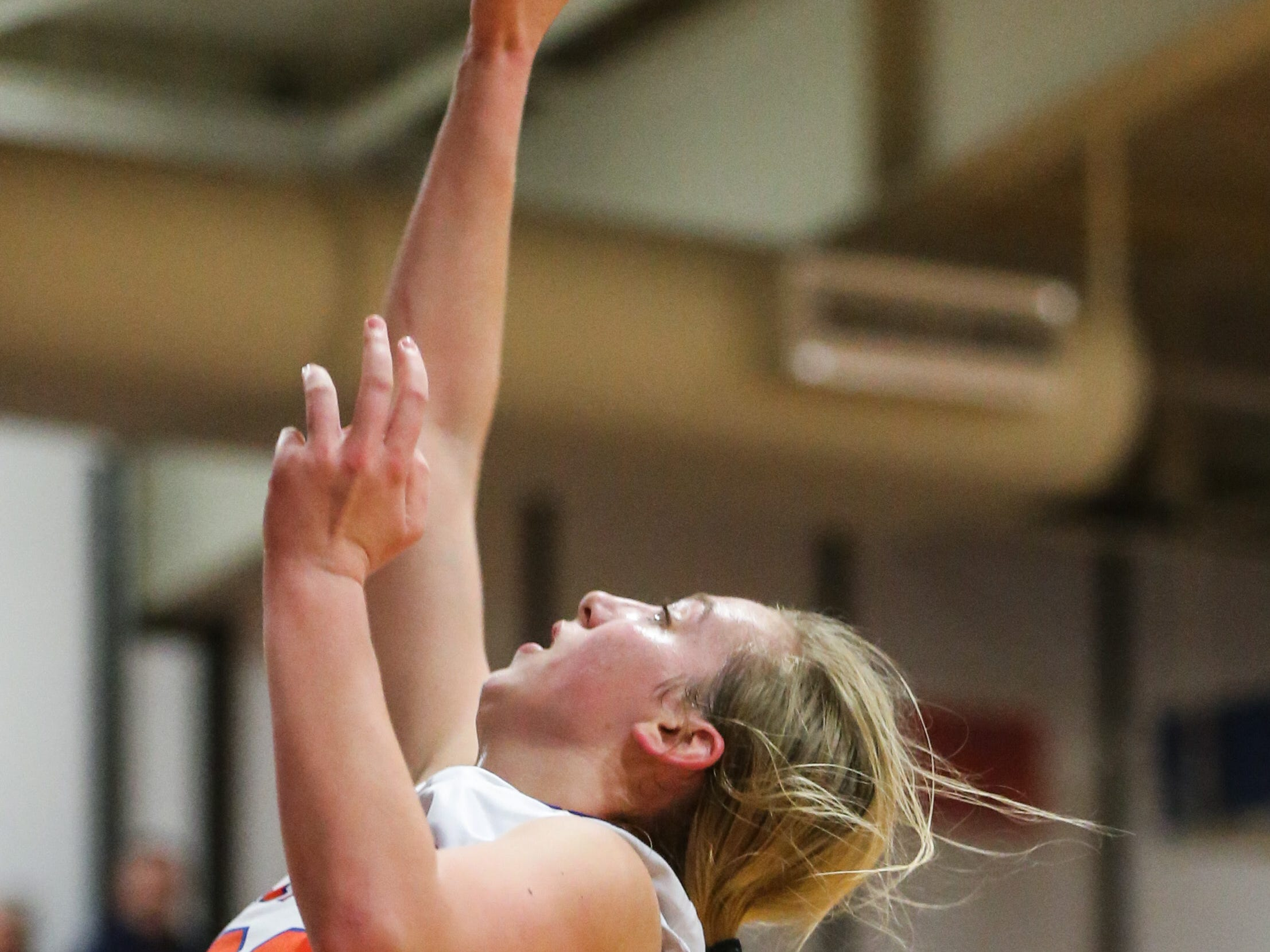 Central's Parris Parmer shoots against Weatherford Tuesday, Jan. 22, 2019, at Central High School.