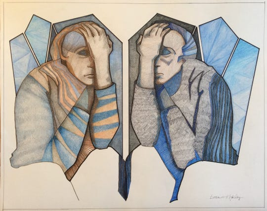 """Bonnie Kirkley's """"Mirror of Despair"""" will be featured in the """"Art is..."""" exhibition at R.W. Norton Art Gallery."""