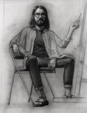 """Nicholas Hobbs' """"Self Portrait in Studio"""" will be featured in the """"Art is..."""" exhibition at R.W. Norton Art Gallery."""