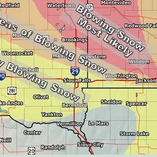 More counties added to Wednesday night blizzard warning