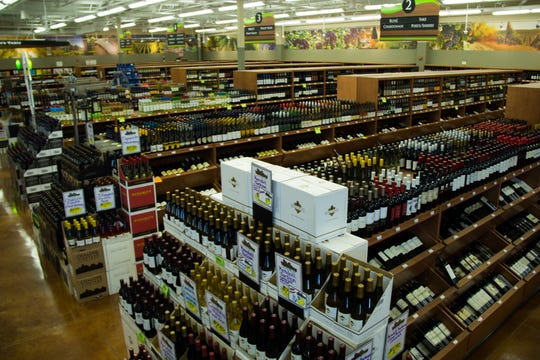 A photo of the wine selection at WilLiquors' Bismarck, North Dakota, location.