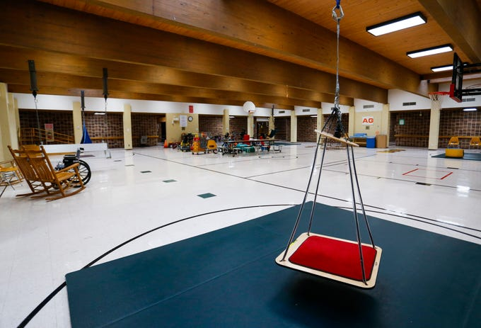 A swing in the gym at Greene Valley State School on Wednesday, Jan. 23, 2019.