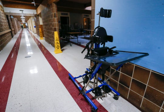 A piece of equipment used to help students stand upright at Greene Valley State School on Wednesday, Jan. 23, 2019.