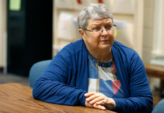 """Peggy Robinson, building administrator at Greene Valley State School, talks about allegations of """"unsanitary conditions"""" at the school on Wednesday, Jan. 23, 2019."""