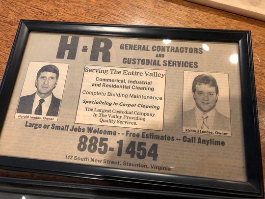 An old newspaper clipping for H&R Contractors in Staunton.
