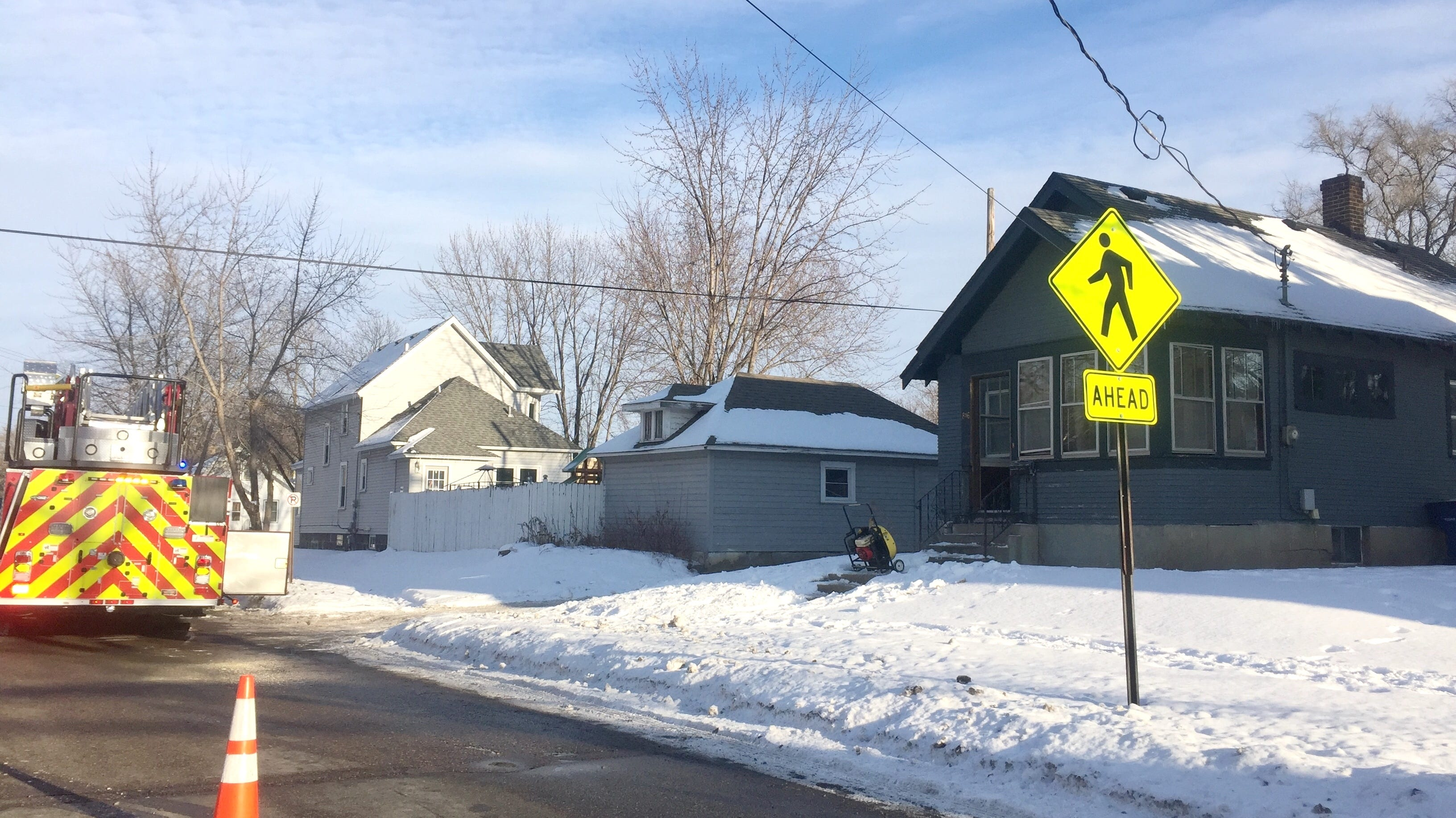 St. Cloud Fire Department responds to a fire at about 3:30 p.m. Wednesday, Jan. 23, at 816 Veterans Drive.