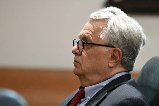 Defense attorney Phil Padovano, sits in court listening to state attorney Jon Fuchs as he makes his case for the defense's motion to interview the six male jurors from the trial in December, where his client Denise Williams was found guilty for the murder of her husband Mike Williams, to be granted, Wednesday, Jan. 23, 2019.