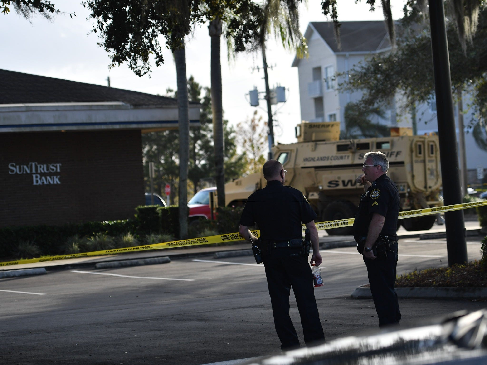 Five people were killed Wednesday, Jan. 23, 2019, at a SunTrust Bank branch in Sebring, FL on U.S. 27 after a man, identified as Zephen Xaver, entered the building and began shooting. He was later taken into custody after a SWAT team negotiated with him and he surrendered.
