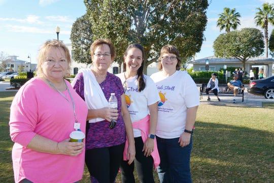 Karmen Bosley, left, Pam Miller, Yanin Kelly and Kelly Haytko at the 2019 Lakeside Stroll for the Treasure Coast Hospice Foundation.