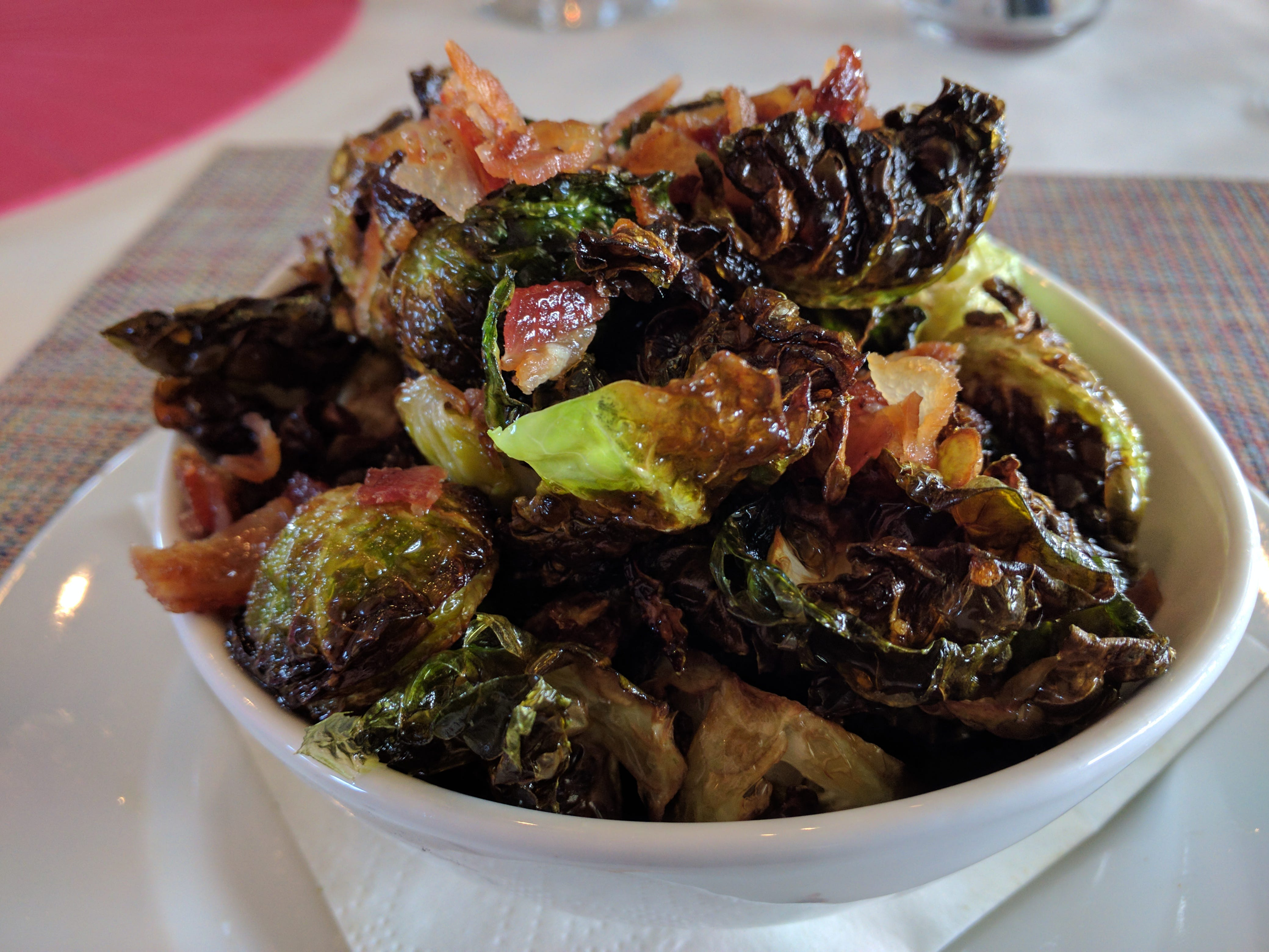 A bowl of crispy, toothsome Brussel sprouts is not to be missed at Counter Culture in Vero Beach.