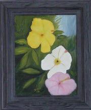 An oil painting by Doretha Hair Truesdell.