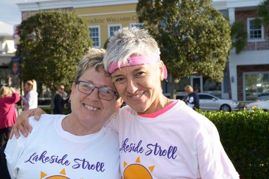 Karen Rutkowski, left, and Analia Parrotta at the 2019 Lakeside Stroll for the Treasure Coast Hospice Foundation.