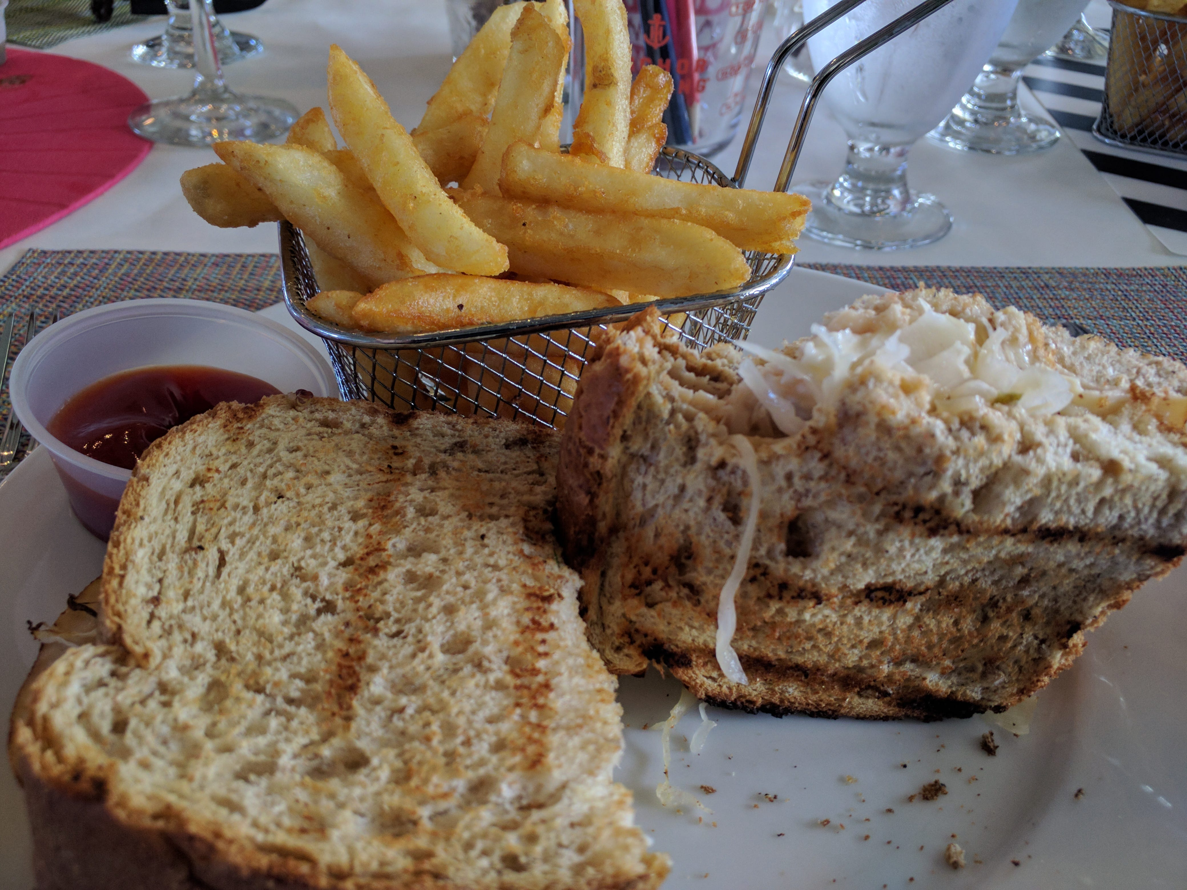 The turkey Reuben is lightly grilled to a healthy, melty finish at Counter Culture in Vero Beach.