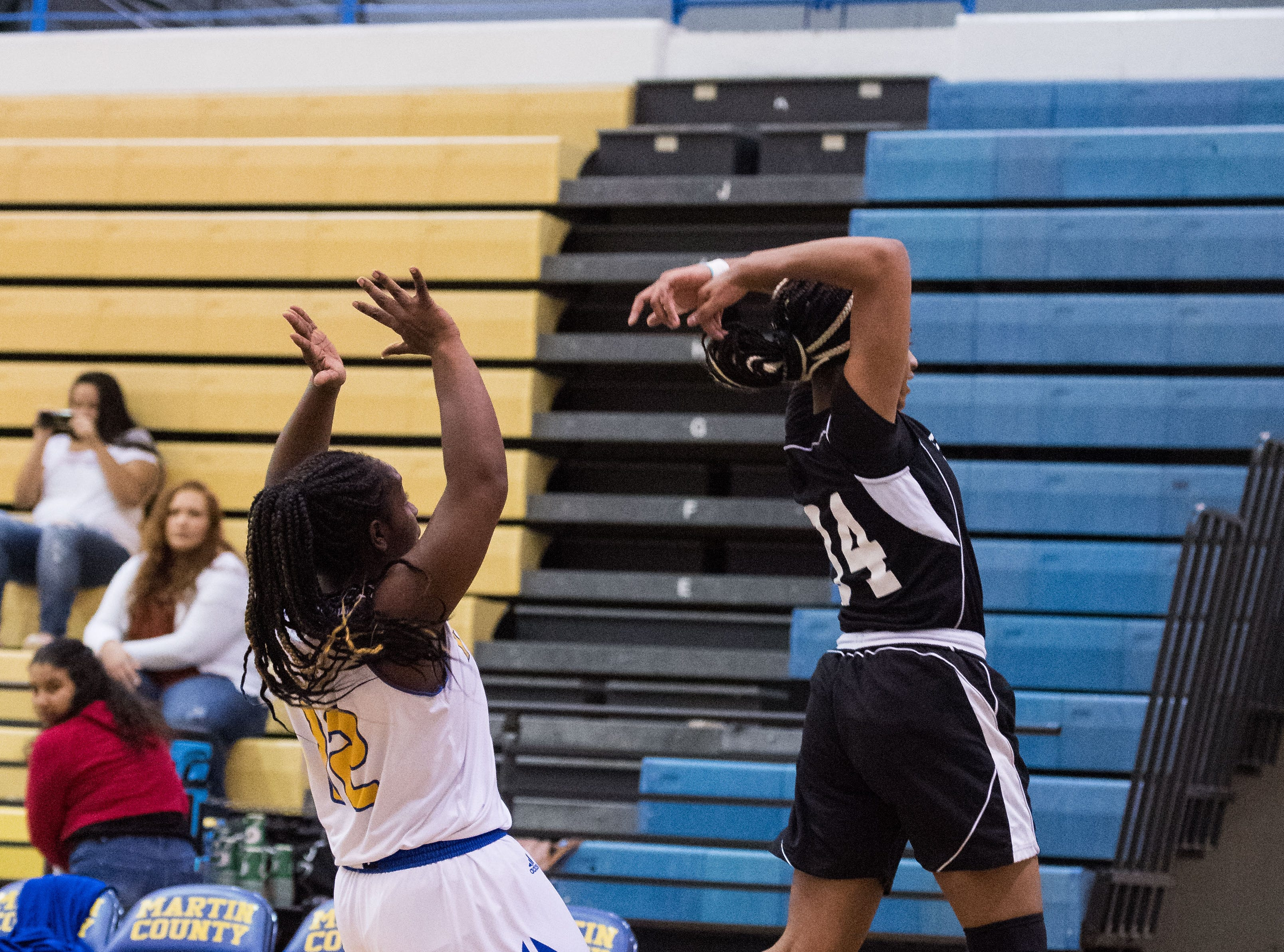 Jensen Beach plays against Martin County during the high school girls basketball game Tuesday, Jan. 22, 2019, at Martin County High School in Stuart.