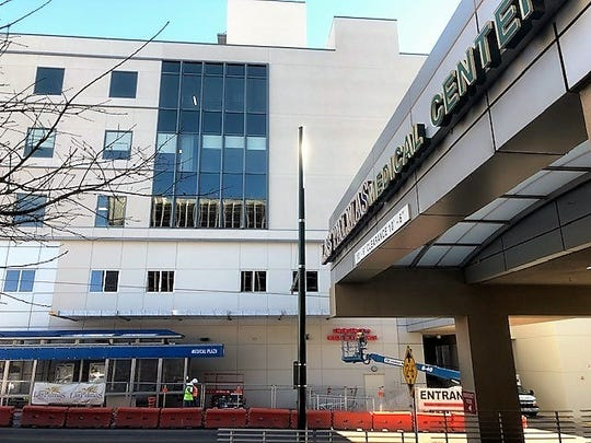 The $63 million, three-story maternity-care addition, back building, is part of the Las Palmas Medical Center complex at 1801 N. Oregon St. in West-Central El Paso. The addition won't open until a neighborhood parking dispute is settled with El Paso City Council.