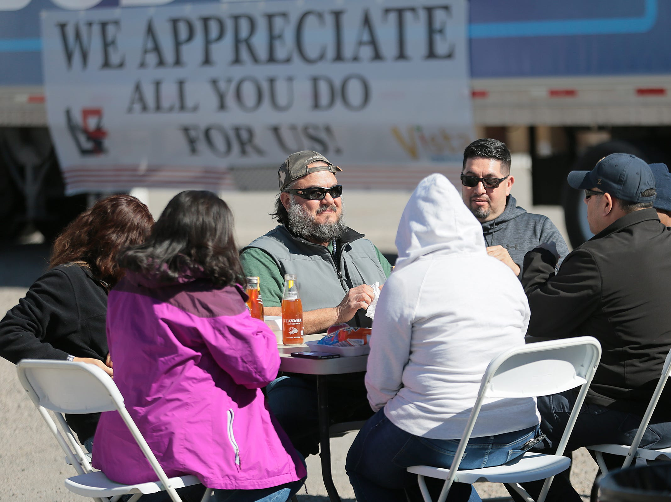 L&F Distributors and Vista Market teamed up to host a barbecue for furloughed federal workers Wednesday. Gift cards were also donated by Cabo Joe's, Pizza Hut and Wing Daddy's and raffled off at the event.