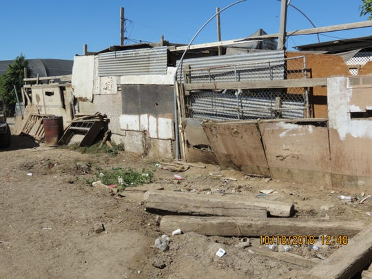 The enclosure in Camarillo where three horses were subjected to abuse and neglect.