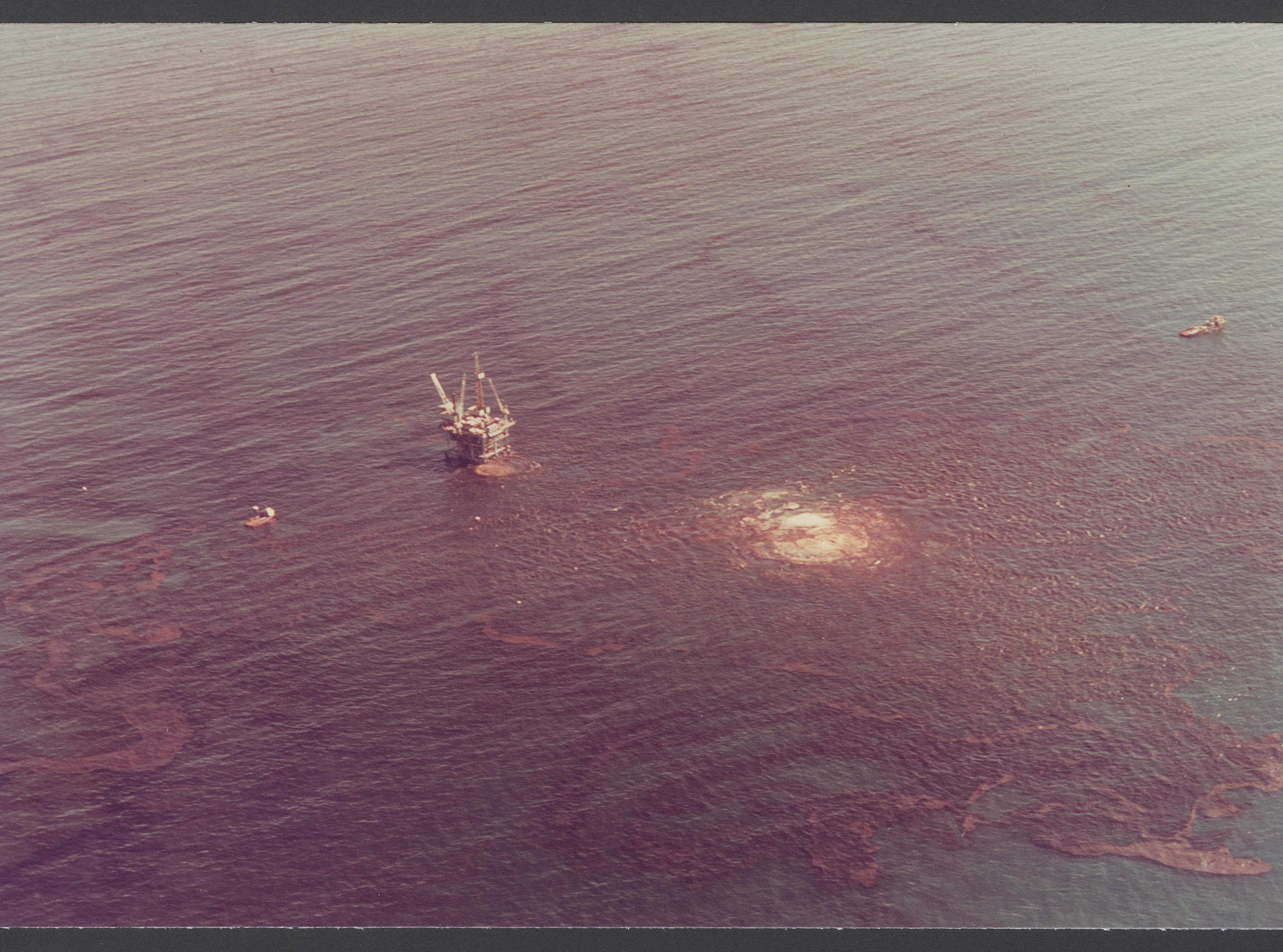 Santa Barbara oil spill. A photo from the Get Oil Out collection at the UC Santa Barbara library.