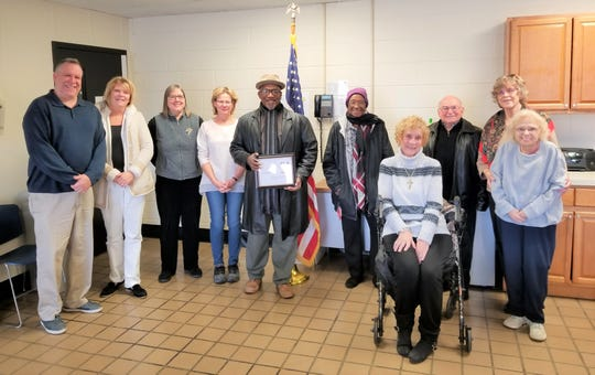 (From left) Chris Volker of the Boys & Girls Club of Vineland, Ann Mulvihil of the Family Success Center, Nancy Walsh of the Countryside Garden Club, Sandy Firman of the Vineland Downtown Improvement District, Etienne Carter of Daniel's Den and Positive Impact Media Alliance, Anna Mae Jeffers of the Woman's Club of Vineland, Rosalie Ruberti of Catholic Daughters, Dr. Valentine from the Environmental Commission, Alma Pesiri of Friends of Vineland Public Library, and B.J. Giercyk attended the recent Vineland Service Clubs Council meeting.