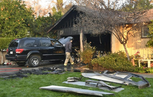 A house fire in Visalia sent one to the hospital for smoke inhalation.