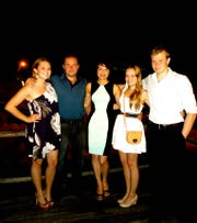 The Malarczyk family: from left, Monica, Ryszard, Anita, Natalie and Peter.