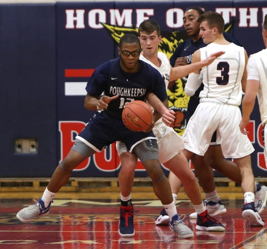 Poughkeepsie boys basketball won 63-62 at Byram Hills Jan. 22, 2019.