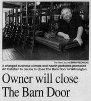 A June 25, 2004 article in The News Journal announces the closing of Art Callahan's Barn Door.