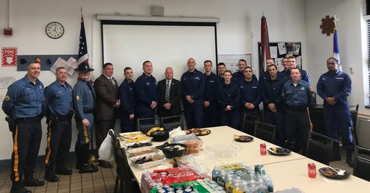 The DSTA on Tuesday treated members of the U.S. Coast Guard stationed at the Indian River Inlet to a meal from Bethany Blues in Lewes.