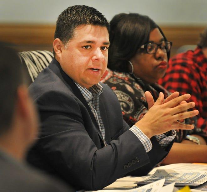 Wichita Falls Mayor, Stephen Santellana spoke during city planning meeting held at the MPEC in January 2019.