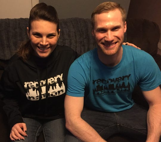 Ember and Jeremy Ridgley, owners of Recovery Nation Apparel, have become local spokespersons, since sharing their journeys with addiction and recovery publicly two years ago.
