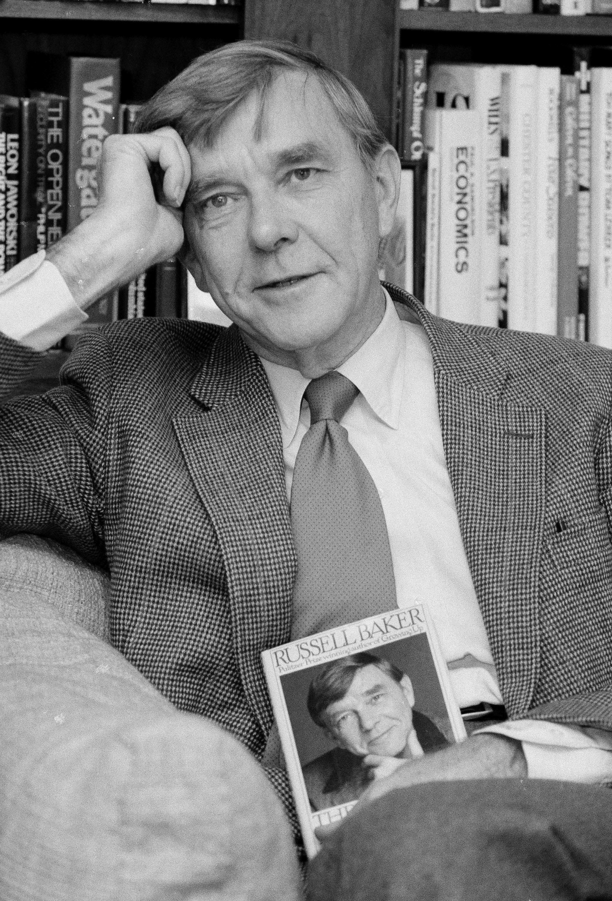 Russell Baker, Pulitzer Prize winner and former New York Times columnist, dies at 93
