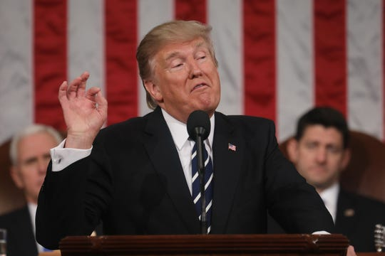 President Donald Trump speaks to joint session of Congress in 2017.